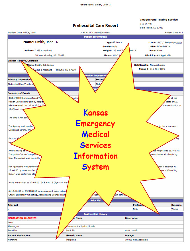 Information Verification Ksbems Kansas Board Of Emergency